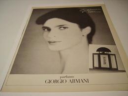 PUBLICITE AFFICHE PARFUM GIORGIO  ARMANI  1987 - Fragrances