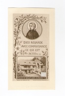 Relique Sainte Bernadette Soubirous, étoffe Non Précisée, Moulin Où Elle Naquit, Lourdes, Nevers - Imágenes Religiosas
