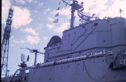 Marine Française - Croiseur De Grasse - Au Port De Tahiti En 1971 - Diapositive Couleur D'avril 1971 - Boten