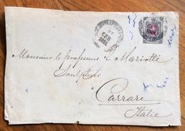 RUSSIA  7 K. ISOLATO SU BUSTA AL PROF.MARIOTTI CARRARA ITALY 25/9/1881 - 1879-08 Principato