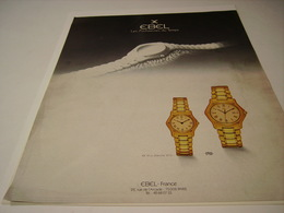 ANCIENNE PUBLICITEMONTRE EBEL 1987 - Bijoux & Horlogerie
