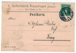 Suisse // Schweiz // Switzerland // 1907-1939 // Carte Publicitaire Et Commerciale  Au Départ De Kreuzlingen - Briefe U. Dokumente
