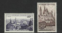 """FR YT 916 & 917 """" Monuments Et Sites """" 1951 Neuf** - Unused Stamps"""