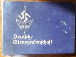 Deutsches Stenografengesellschaft-1935-Mitgliedskarte-Leistungsnachweise - 1939-45