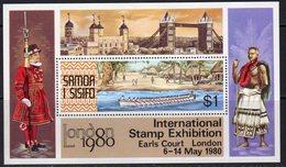 Samoa 1980 London '80 Stamp Exhibition MS, MNH, SG 571 - Samoa