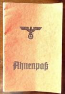Umfangreicher Original-Ahnenpass - 1939-45