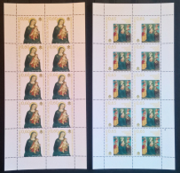 Vaticano 2009 Sass. 1515/16 Minifogli Da 10 **/MNH VF - Blocs & Feuillets