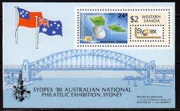 Samoa 1980 Sydpex Stamp Exhibition MS, MNH, SG 578 - Samoa
