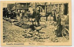 CPA Lituanie Lithuanie Lituania Circulé TELSIAI Marché Aux Sabots - Litauen
