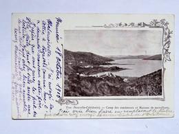 C.P.A. Nouvelle Calédonie : PAM, Camp Des Condamnés Et Maisons Des Surveillants, Timbre En 1903 - Nouvelle-Calédonie