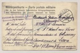 Schweiz - 1916 - Multi-Censored Militärpostkarte From POW Sonnenberg/ Kriens To Chauny / France - Documenten