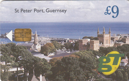 Guernsey Phonecard - £9 St Peter Port - Superb Fine Used Condition - Ver. Königreich