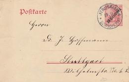 Levant Allemand Entier Postal Jérusalem 1909 - Other