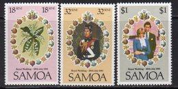 Samoa 1981 Royal Wedding Set Of 3, MNH, SG 599/601 - Samoa