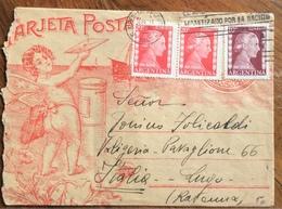 ARGENTINA TARJETA POSTAL  DA BUENOS AIRES A LUGO ITALY IN DATA 11/6/1953 - 1879-08 Principato