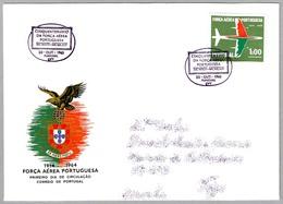 50 AÑOS FUERZA AEREA PORTUGUESA - 50 Years Portuguese Air Force. SPD/FDC Funchal 1965 - Militaria