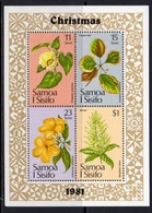 Samoa 1981 Christmas Flowers MS, MNH, SG 611 - Samoa