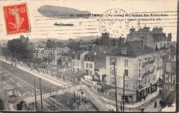 """HAUTS DE SEINE  92  BOIS COLOMBES   PANORAMA DE L'AVENUE DES BELLES VUES  LE """"CLEMENT BAYARD""""  AVIATON - DIRIGEABLE - France"""