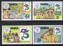 Samoa 1982 75th Anniversary Of Boy Scouts Set Of 4, MNH, SG 620/3 - Samoa