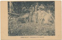 CONGO BELGE - Vainqueurs D'un Eléphant - Chasse, Ivoire - Belgisch-Congo - Varia