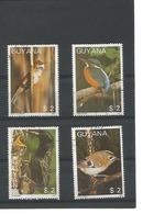 Guyana - Thématique Oiseaux - Série 4 Timbres Oblitérés - Stamps