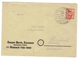 SBZ Brief  Mit Mi.Nr.) 60 Stempel Steinach (31.1.46) Nach Sonneberg - Sowjetische Zone (SBZ)
