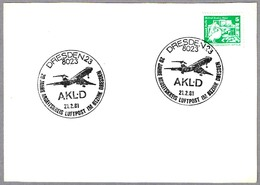 20 YEARS AIR MAIL STUDY CIRCLE IN DRESDEN. Dresden 1981 - Correo Postal
