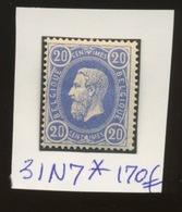 31 N7 *  Bon Centrage Et Très Frais  Cote 170,-E  Propre Charnière - 1869-1883 Leopold II