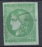 N°42 VERT FONCE - 1870 Bordeaux Printing