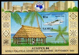 Samoa 1984 Ausipex Stamp Exhibition Aeroplane MS, MNH, SG 683 - Samoa