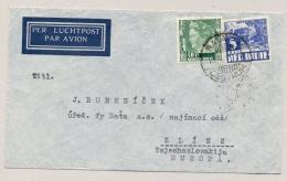 Nederlands Indië - 1937 - 40c + 5c Op LP-cover Van Batavia Naar Zlin2 / Tsjechoslowakije - Nederlands-Indië