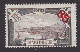 Martinique, Scott #113, Mint Hinged, Scenes Of Martinique Surcharged, Issued 1923 - Martinique (1886-1947)