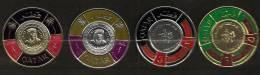 Qatar 1966 N° 103 / 6 Iso ** Conférence Monétaire Du Glofe Persique, Ronds, Pièce De Monnaie, Argent, Or, Palmiers - Qatar