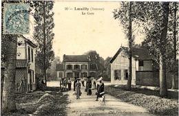 80 LOEUILLY - La Gare - Animée - Autres Communes