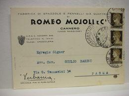 CANNERO  -- VERBANIA  --CUSIO - OSSOLA  -- ROMEO MOGLIOLI  & C. -- FABBRICA SPAZZOLE - Verbania