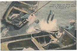 CAP VERT - I Say ! Spose You Throw One Penny - Jeunes Plongeurs - Cape Verde