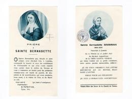 Relique Sainte Bernadette Soubirous, étoffe Non Précisée (Lourdes, Nevers) - Imágenes Religiosas