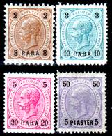 Levante-Austriaco-38 - 1890-92 - Valori Della Serie Y&T N. 20-25 (+) LH - Senza Difetti Occulti. - Oriente Austriaco