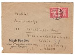 SBZ Brief  Mit Mi.Nr.5 A Als Paar Stempel Berlin (22.8.46) Nach Leichlingen - Zone Soviétique