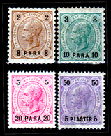 Levante-Austriaco-39 - 1890-92 - Valori Della Serie Y&T N. 20-25 (+) LH - Senza Difetti Occulti. - Levant Autrichien
