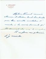 Turnhout. Lettre D'Alphonse Verwaest D'Everdonck. - Autographes