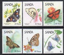 Samoa 1986 Butterflies Set Of 6, MNH, SG 716/21 - Samoa