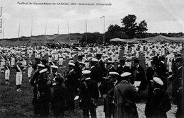 Festival De Gymnastique De Carnac 1910-Mouvement D'Ensemble-4Cpa Avec Le Cachet(plus Ou Moins Bien Marqué)-Rare - Carnac