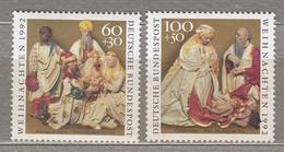 GERMANY BRD 1992 Christmas MNH(**) Mi 1639-1640  #21698 - [7] République Fédérale