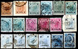 Levante-Austriaco-40 - 1890-92 - Valori Della Serie Y&T N. 20-26 (o) - Senza Difetti Occulti. - Oriente Austriaco