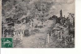 Bazeilles - En Feu (incendie Par Les Bavarois En 1870) - Autres Communes