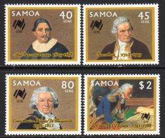 Samoa 1987 Australian Bicentenary Set Of 4, MNH, SG 758/61 - Samoa