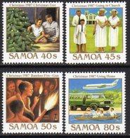 Samoa 1987 Christmas Set Of 4, MNH, SG 764/7 - Samoa