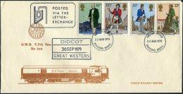1979 GB G.W.R.Didcot TPO Ailway Train Cover. Sir Rowland Hill First Day Cover - 1952-.... (Elizabeth II)