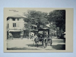 VIETNAM SAIGON HO CHI MINH Rue D'Adran French Colony  AK Old Postcard - Vietnam